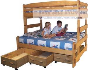 diy bunk bed plans twin over full quick woodworking projects