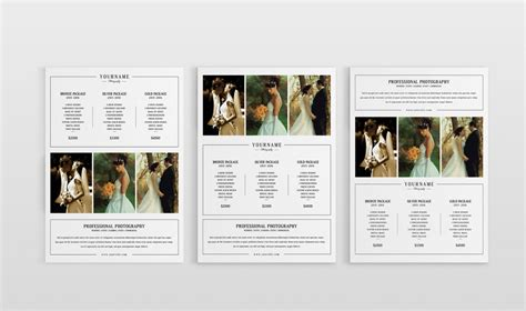 wedding photography pricing template modern photography price list template deals infoparrot