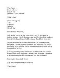 Business Letters Introduction letter of introduction how to write an introduction