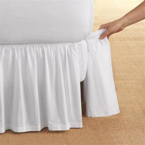 king bed skirt detachable ruffled bed skirt king white 14 drop