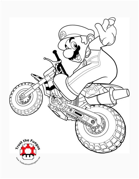 Mario Kart Wii Coloring Pages tmk archive 2008