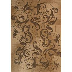 patio rugs lowes shop kannapolis rectangular brown transitional indoor