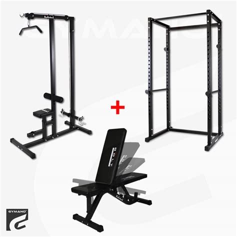 lat bench bolt by gymano ultimate gym package power rack lat