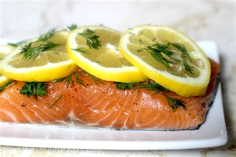 and lemon salmon with garlic lemon and dill recipe dishmaps