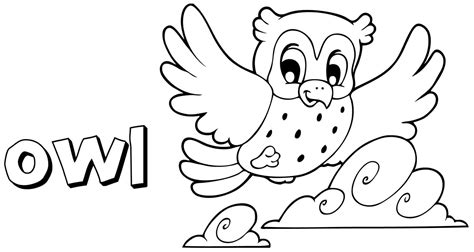 Pictures Of Owls To Color by Free Owl Preschool Coloring Pages Coloring Home