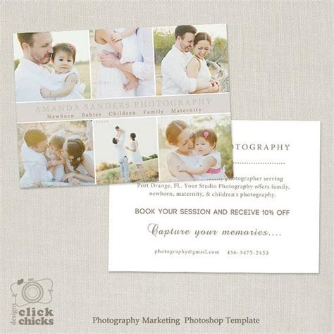 Promo Card Photography Marketing Template Flyer Postcard Promotional Postcard Template