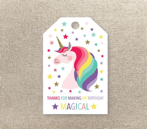 free printable unicorn tags unicorn favor tags unicorn favour tags printable favour