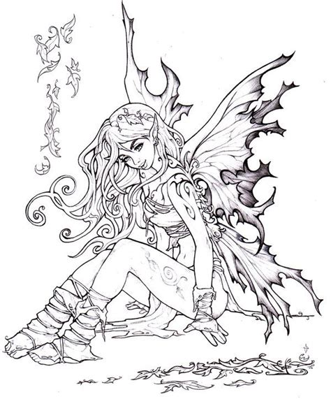 advanced fall coloring pages autumn fairy by pallat on deviantart advanced coloring