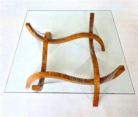 Handmade Chairs - handmade furniture uses nothing but cables and tension for