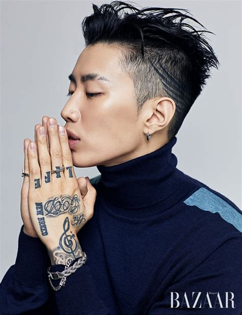 jay park tattoo park s bazaar magazine october issue