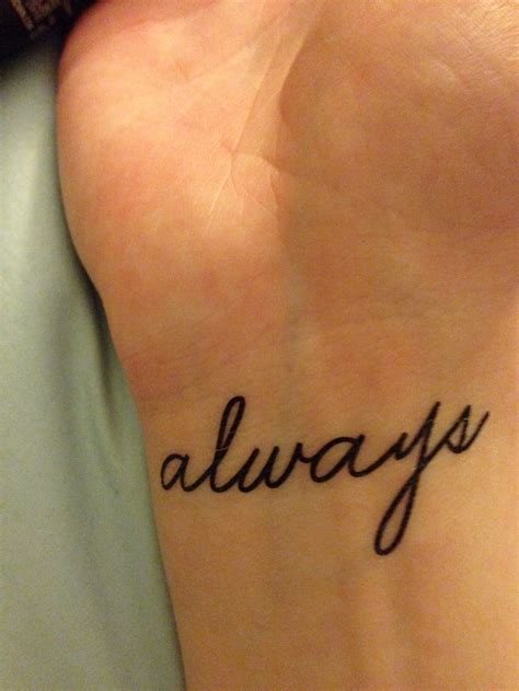 always wrist tattoo best 25 always harry potter ideas on