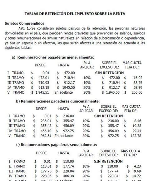 nueva tabla impuestos vehiculos impuestos de el salvador nueva tabla impuesto sobre la renta