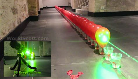 Laser Popping Balloons balloon popping record attempt using a high powered