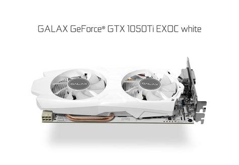 Galax Geforce Gtx 1050 Ti Exoc 4gb galax geforce 174 gtx 1050 ti exoc white geforce 174 gtx 10 series graphics card