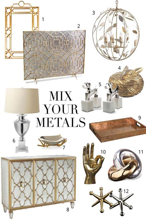 gold and silver home decor 5 tips for mixing metals the chriselle factor