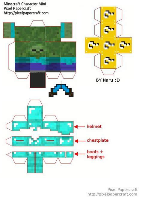 Minecraft Papercraft Mod - papercraft mini bob lucky blocks mod minecraft