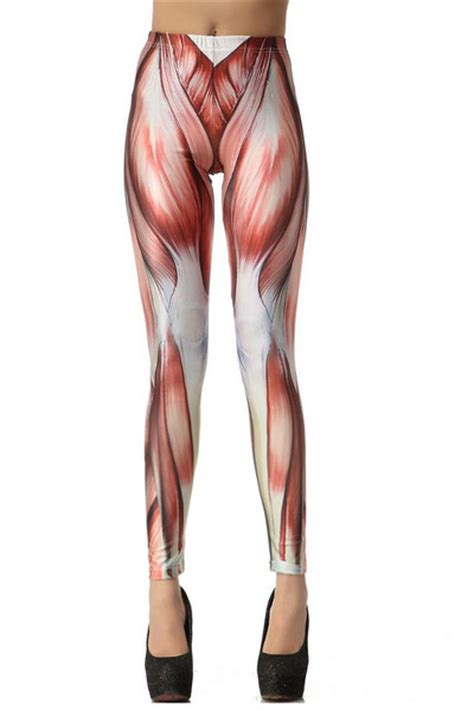 muscle pattern running tights leggings quot muscle print leggings quot by alston11011 chictopia