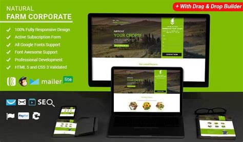 html landing page templates free farm html website templates landing page template with