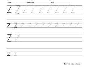 tracing and writing letter z worksheet