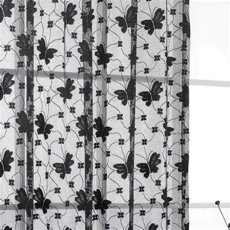 black and white lace curtains jardin lace curtain panel ebay