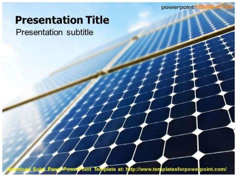 solar panel powerpoint template solar panel powerpoint template templatesforpowerpoint