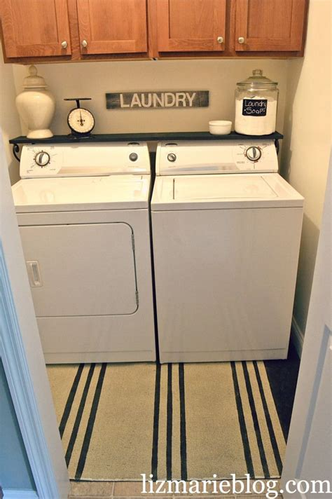 Laundry Room Shelf by Laundry Room Makeover