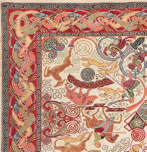 mid century celtic rug by george bain at 1stdibs