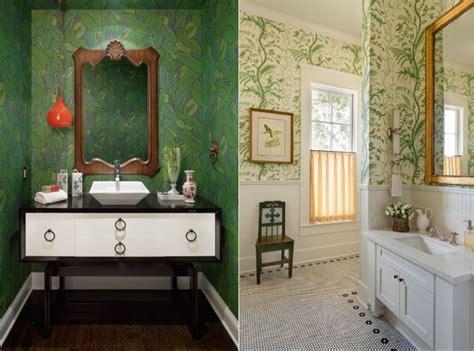 wallpaper daun merambat tren 2017 anti stres biarkan si hijau memenuhi dinding