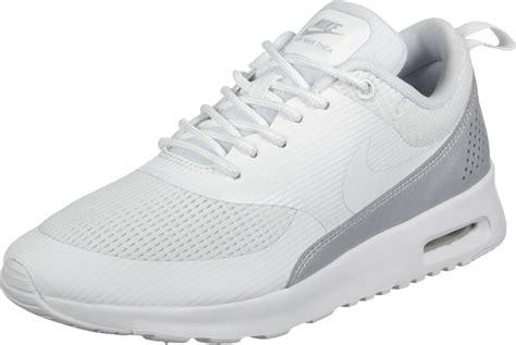 nike air max thea txt  shoes white silver