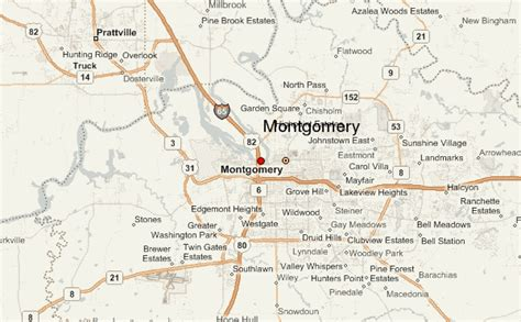 montgomery alabama map montgomery alabama location guide