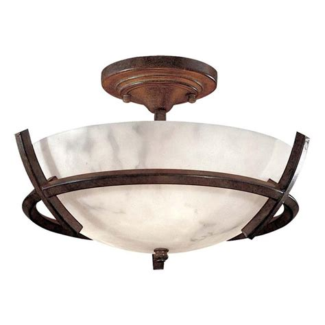minka lavery ceiling fans minka lavery calavera 3 light nutmeg semi flush mount 687 14 the home depot