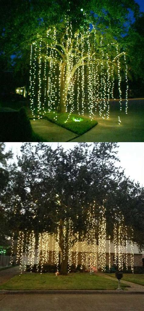 decorating with lights outdoors 25 best ideas about outdoor tree decorations on