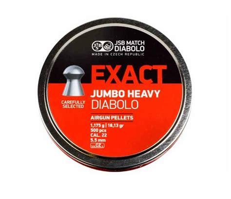 Jsb Exact Jumbo Heavy 22 jsb diabolo exact jumbo heavy 22 cal 18 13 gr 500 ct