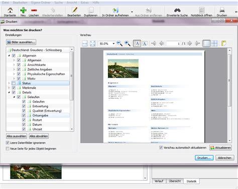 Postkarten Drucken Software by Stecotec Ansichtskarten Verwaltung Pro Postkarten Software