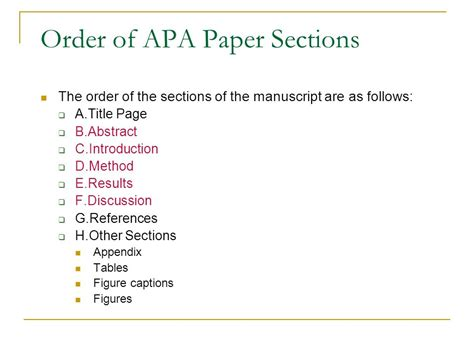 apa format sections five basic sections of a research paper ppt video online