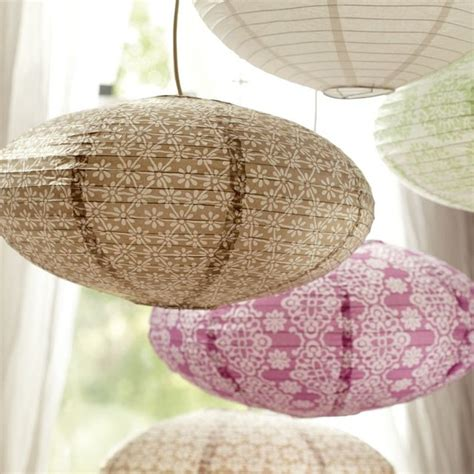 Paper Lantern Pendant Light Oval Paper Lanterns Contemporary Pendant Lighting By Pbteen