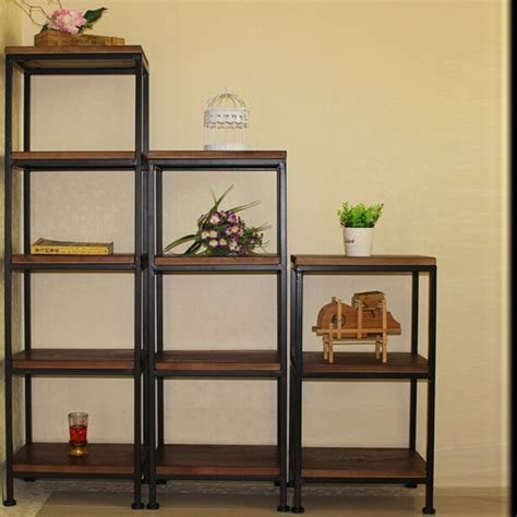 living room display shelves simple living room shelf metal storage racks wrought iron wood sub floor multi retro grid