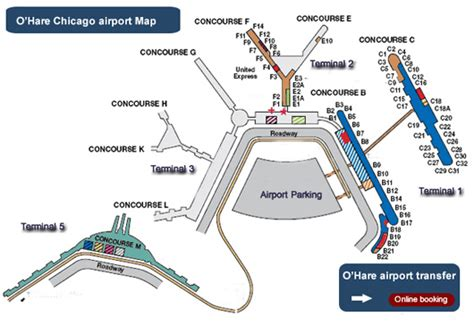 o hare terminal map map of terminals at o hare airport ord