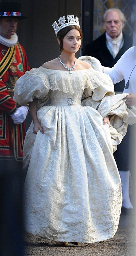 itv drama queen victoria jenna coleman looks radiant as queen victoria but what