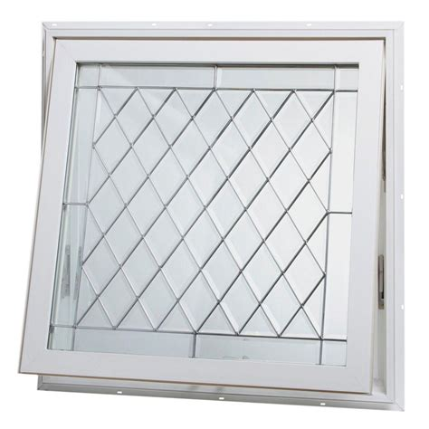 vinyl awning windows tafco windows 32 in x 32 in awning vinyl window white