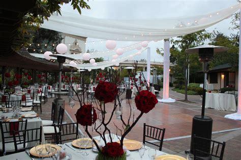 san diego wedding lighting market string lights and beautiful chiffon draping at the