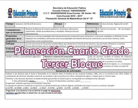planeaciones cuarto grado bloque 1 primer bimestre ciclo escolar 2014 planeaciones del cuarto grado para el tercer bloque ciclo