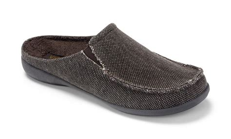 mens canvas slippers vionic taunton mens indoor outdoor canvas slippers ebay