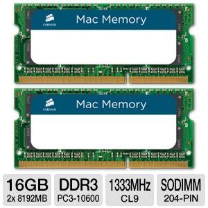 Ram Ddr3 Laptop 16gb corsair cmsa16gx3m2a1333c9 laptop memory kit 16gb 2x