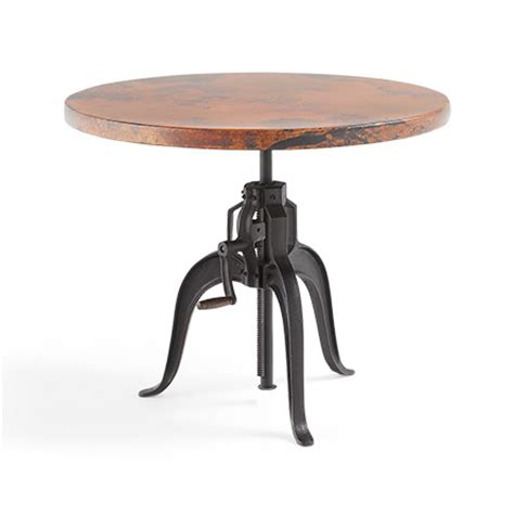 Edison Bistro Table Edison 36 Quot Copper Top Bistro Table With Edison Base Arhaus Furniture