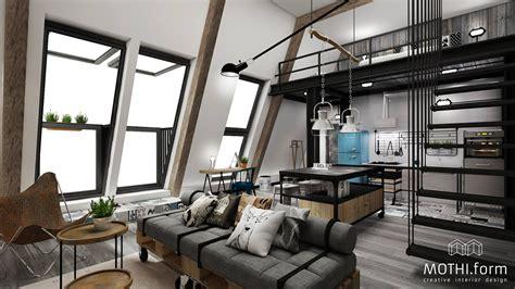 industrial apartment interior design   inspiring