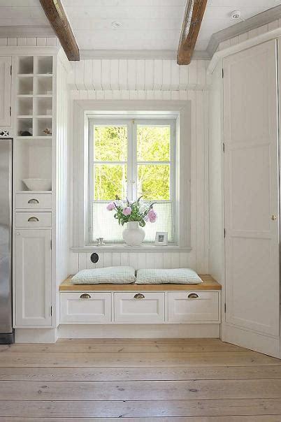 White Window Bench Interior Design Files