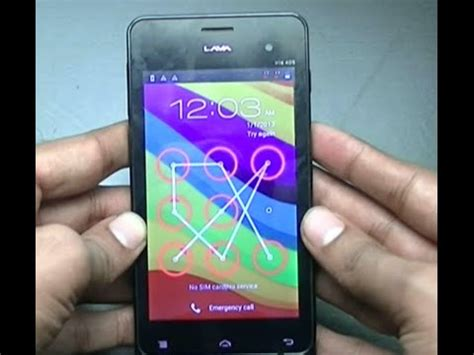 pattern unlock lava iris how to unlock password in lava iris 405 mobile youtube