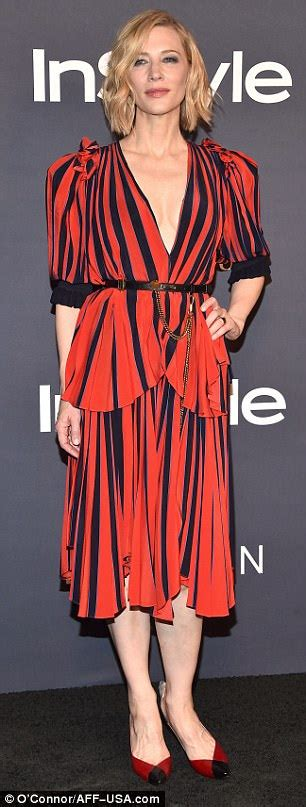 48 year old fashion cate blanchett steps out for instyle awards in los angeles