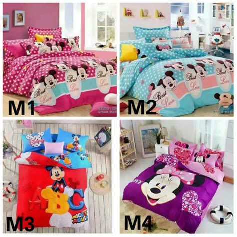 queen size minnie mouse bedding 6 in 1 set 800tc mickey minnie mouse bedding bed sheet